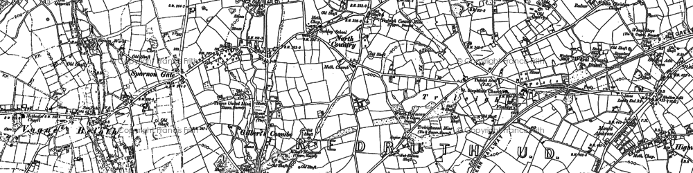 Old map of Gilbert's Coombe in 1878