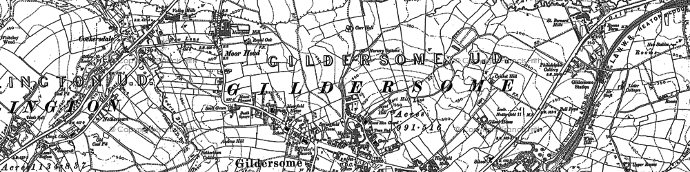 Old map of Adwalton in 1891