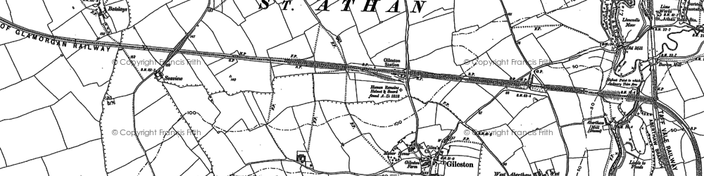 Old map of Beggars Pound in 1897