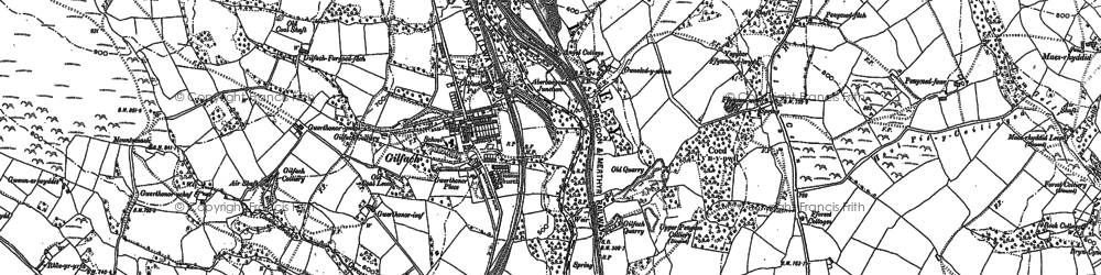 Old map of Gilfach in 1916