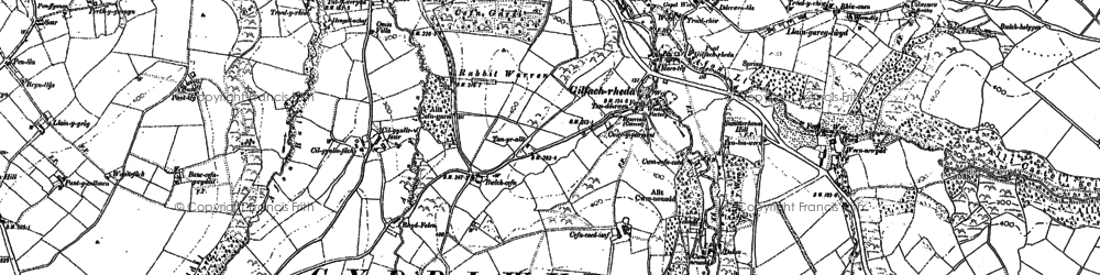 Old map of Gilfachreda in 1904