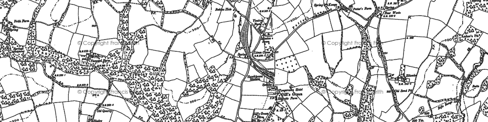Old map of Hartley in 1907