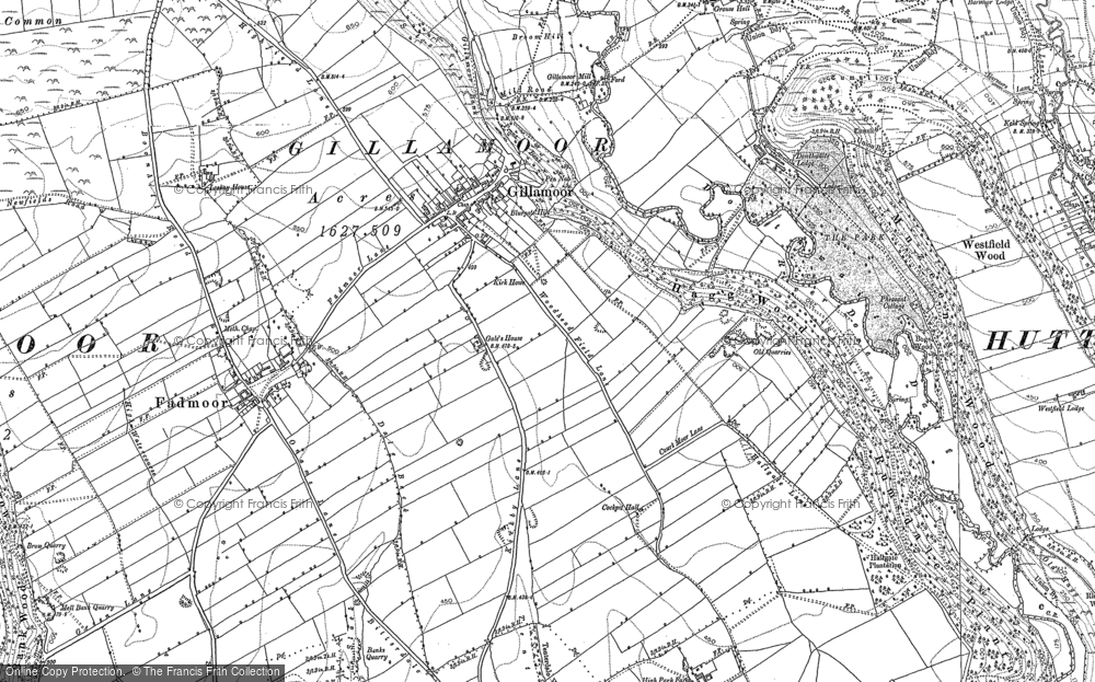 Old Map of Historic Map covering Aumery Park in 1853