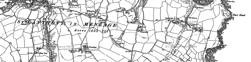 Old map of Gillan in 1906