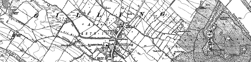 Old map of Gilling West in 1892