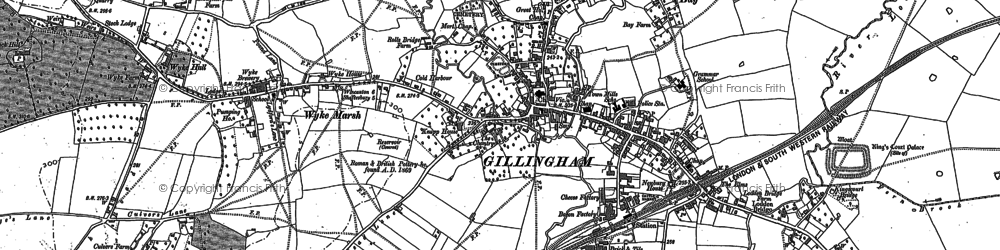 Old map of Gillingham in 1900