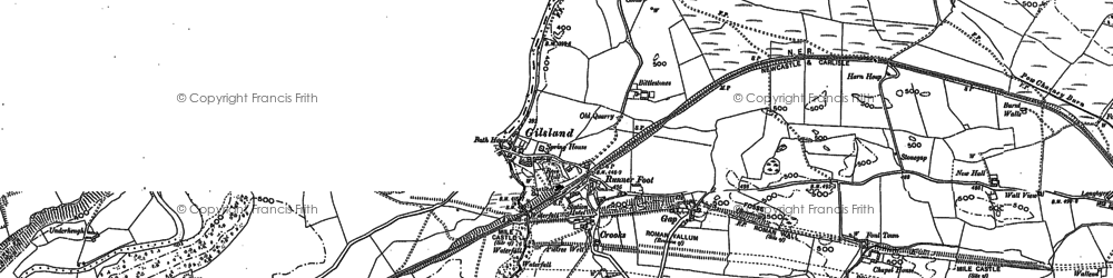 Old map of Gilsland in 1899
