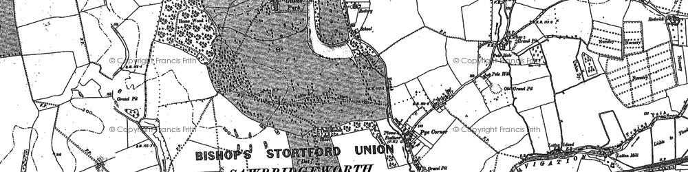 Old map of Gilston in 1896