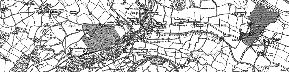 Old map of Gilwern in 1879