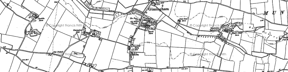 Old map of Gimingham in 1905