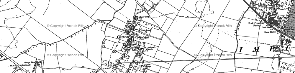 Old map of Wrangling Corner in 1886