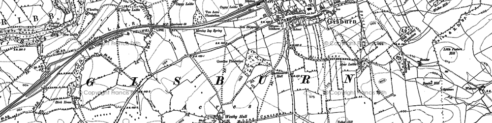 Old map of What Close in 1892