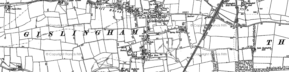 Old map of Allwood Green in 1884