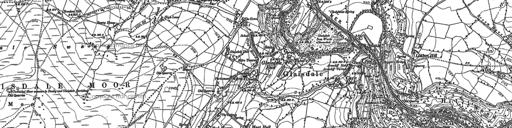 Old map of Glaisdale in 1892