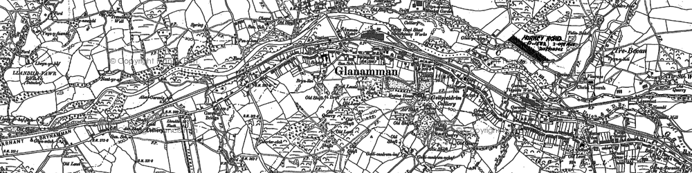 Old map of Glanaman in 1905