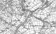 Old Map of Glandwr, 1888 - 1906