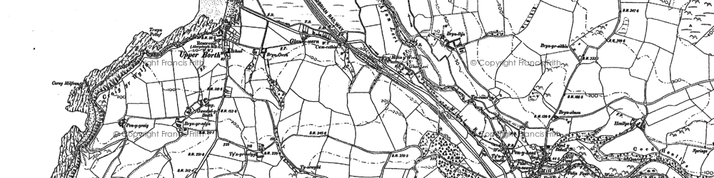 Old map of Ynysfergi in 1904