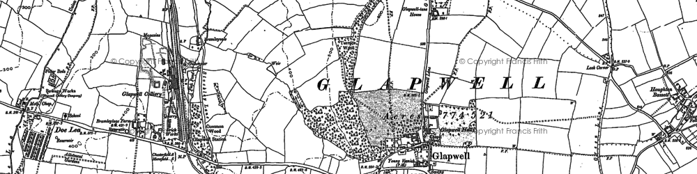 Old map of Glapwell in 1897