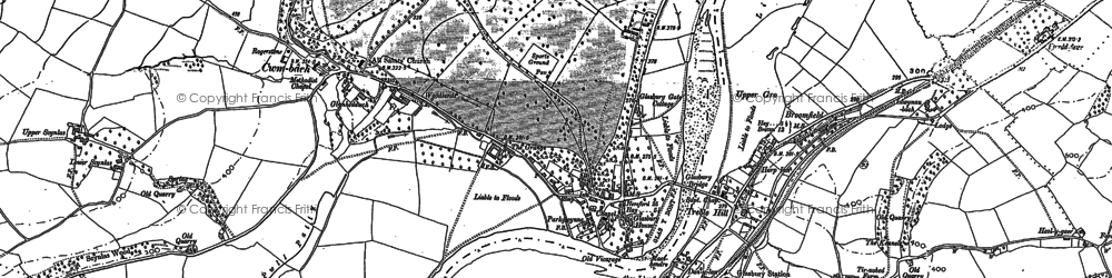 Old map of Woodlands in 1887
