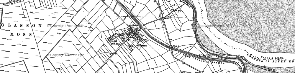 Old map of Whitriggmoor Ho in 1899
