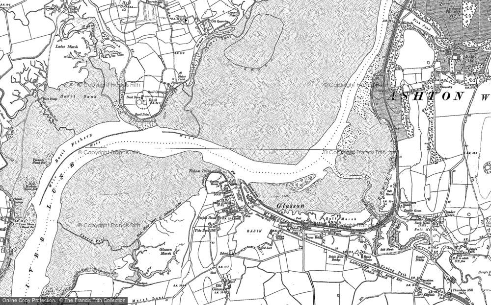 Old Map of Historic Map covering Tithe Barn Hill in 1899