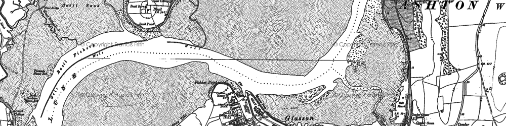 Old map of Glasson in 1899