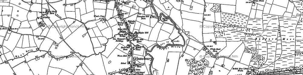 Old map of Glazebury in 1892