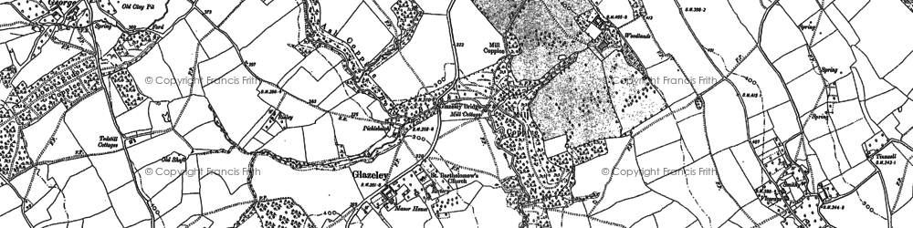 Old map of Woodlands in 1882