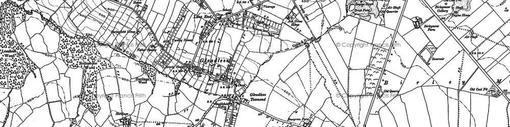 Old map of Gleadless in 1890