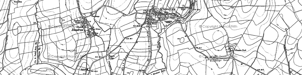 Old map of Gleaston in 1910