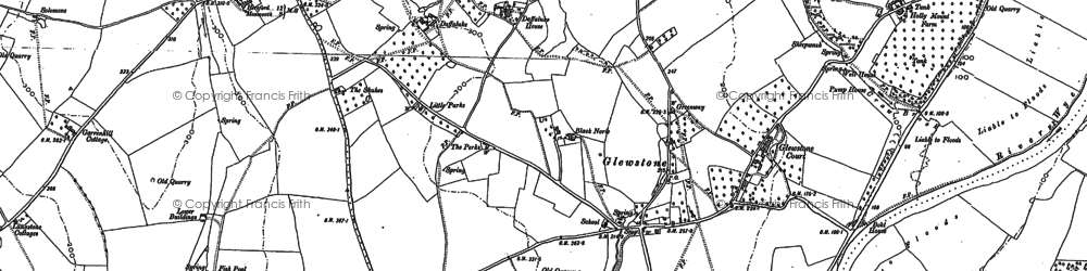 Old map of Hollymount in 1887