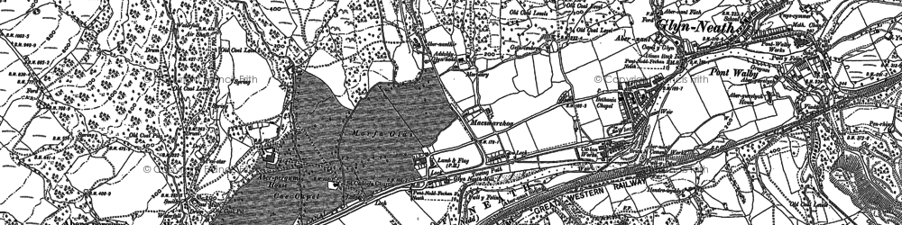 Old map of Glyn-neath in 1897