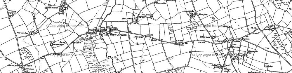 Old map of Betws Ifan in 1887