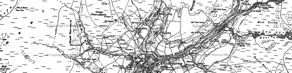 Old map of Afon Corrwg Fechan in 1897