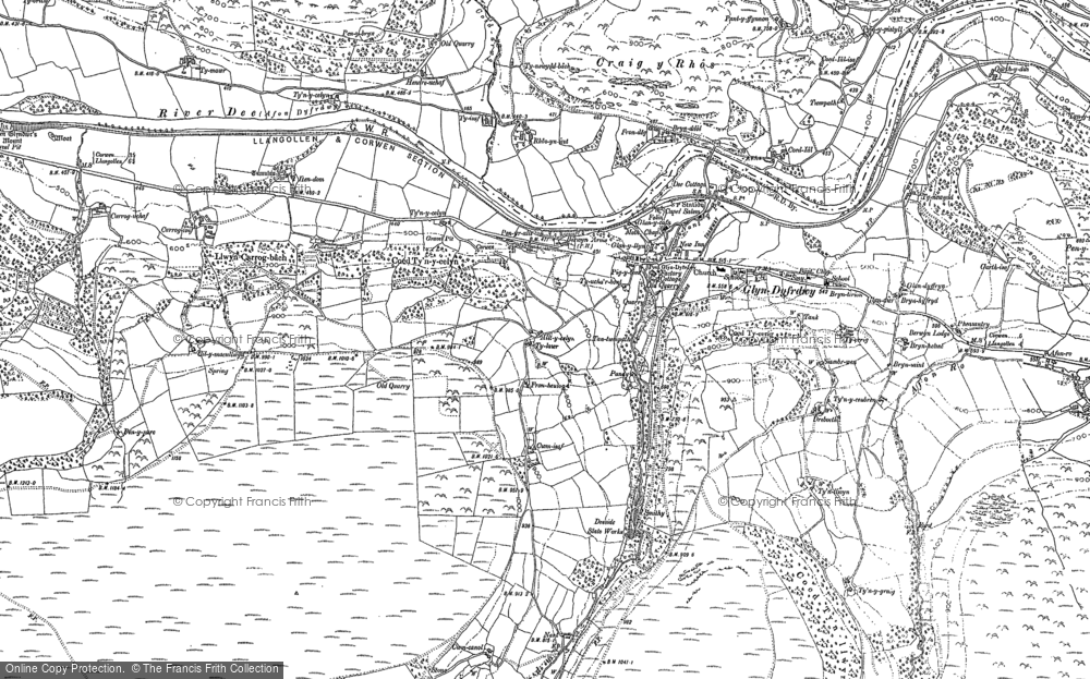 Old Map of Historic Map covering Afon Ro in 1899