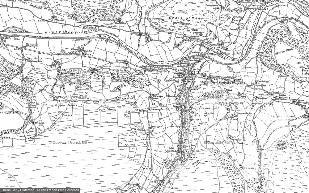 Old Map of Glyndyfrdwy, 1899 in 1899