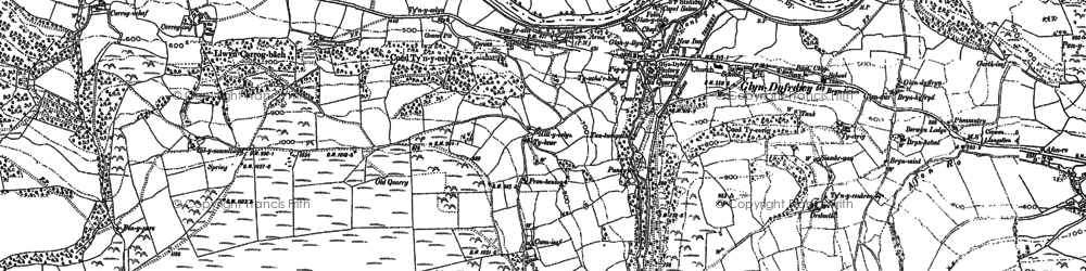 Old map of Afon Ro in 1899