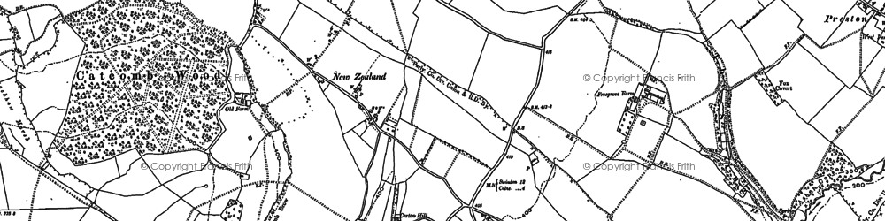 Old map of Goatacre in 1899