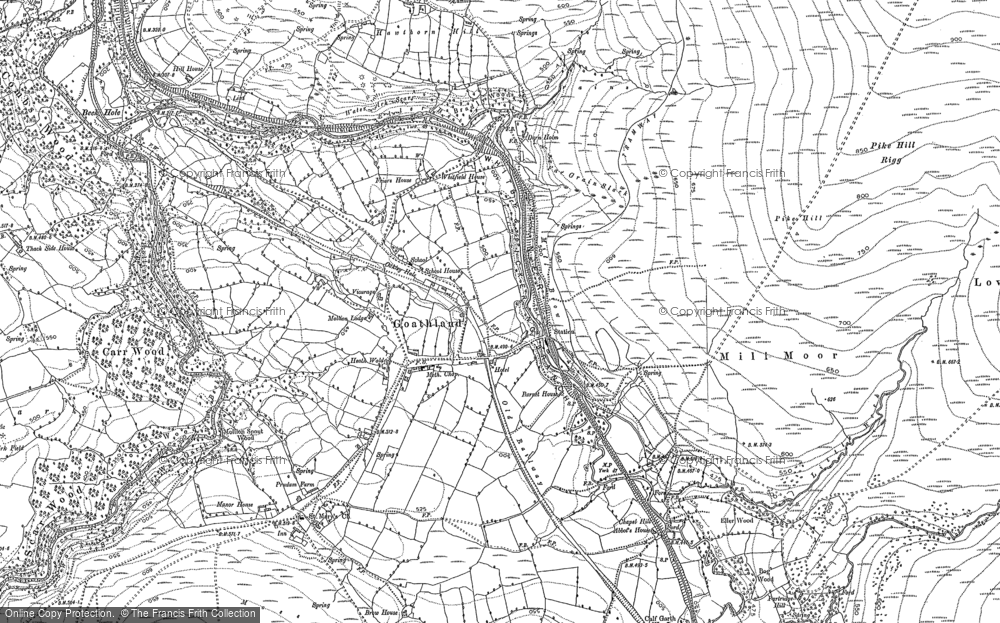 Old Map of Historic Map covering Abbot's Ho in 1892