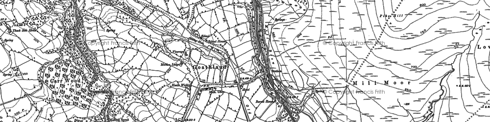 Old map of Abbot's Ho in 1892