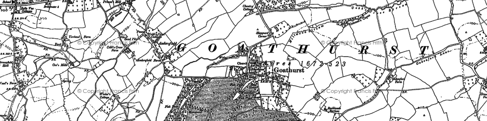 Old map of Bare Ash in 1886
