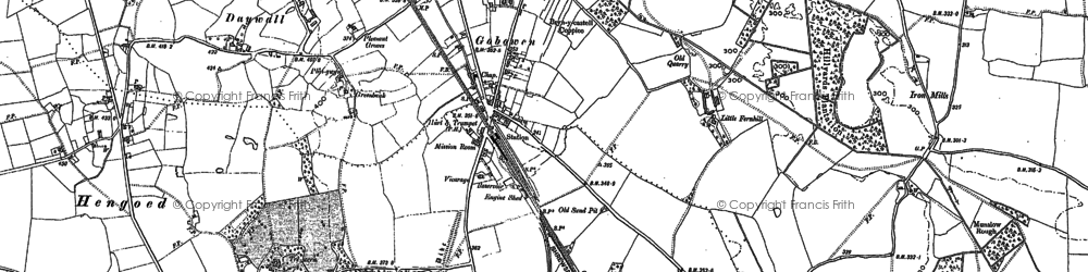 Old map of Gobowen in 1874