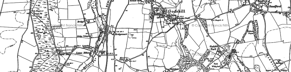 Old map of Godshill in 1907