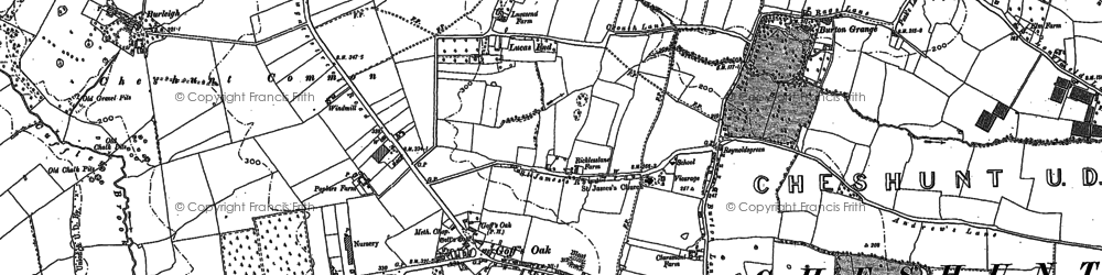 Old map of Goff's Oak in 1912