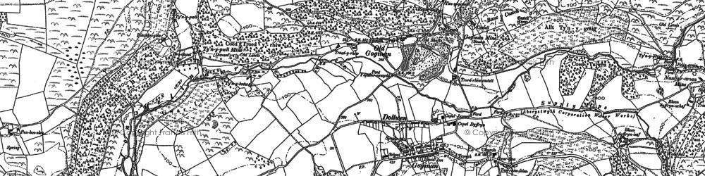 Old map of Allt y Gwreiddyn in 1886