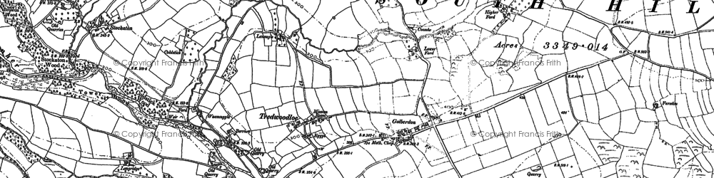 Old map of Golberdon in 1882