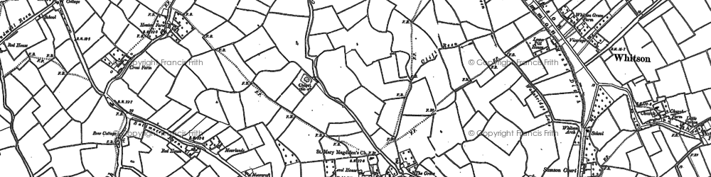 Old map of Goldcliff in 1885