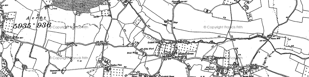 Old map of Tithe Ward in 1895