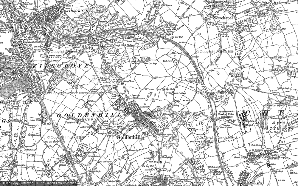 Old Map of Historic Map covering Acres Nook in 1878
