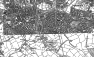 Old Map of Golders Green, 1894 - 1896